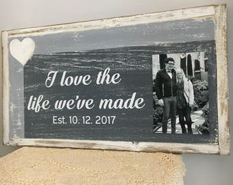 Easter Decor, Anniversary Gifts for Women, Reclaimed wood sign, Anniversary Gifts for Husband, Weddings, Wife Gift, Gift for Wife, couple
