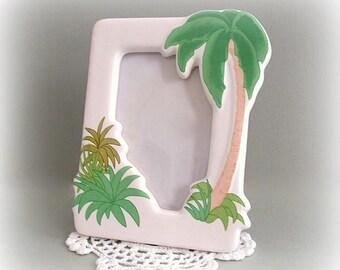 Palm Tree Frame Beach Frame Picture Frame Tropical Frame Photo Frame Decorative Frame Nautical Frame Photo Picture Frame Coastal Frame Decor