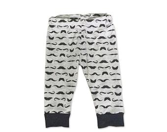 Little Man Birthday - Mustache - Little Man - Grey and Black