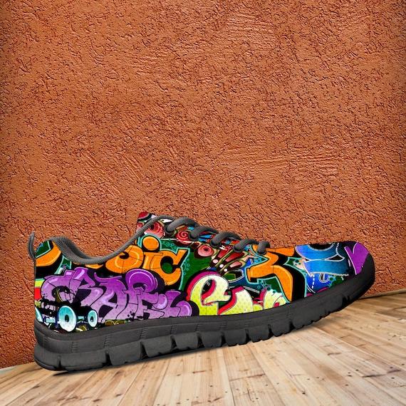 Trainers Kids sizes Art amp; Shoes Men's Sneakers Graffiti Colourful ladies Sneaker wxYEI7