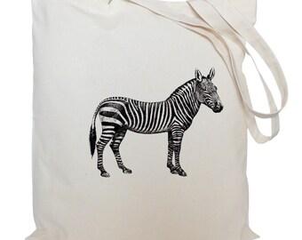 Tote bag/ drawstring bag/ zebra cotton bag/ material shopping bag/ shoe bag/ gift bag/ animal/ market bag