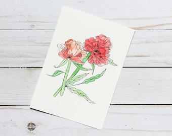 Red poppy print, Art print, Digital print, Nature inspired wall art, Watercolor, Red poppies, kitchen decor, Home decor