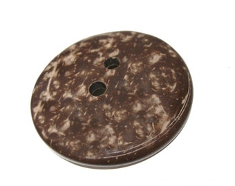 Large button 2 inch coconut button 5cm - Natural Wood and Eco Friendly button  #BC603J