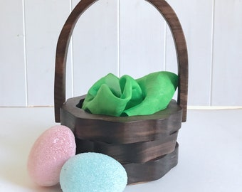 Wood Easter Basket - Wedding Basket - Flower Girl Basket - Decor Basket