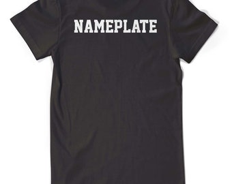 Nameplates for Wolfpack Shirts