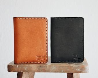 Leather Passport Holder Travel Wallet Men Women Minimalist Gift