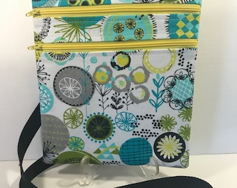 Teal Circles Zip and Go