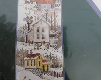 Elsa Williams Counted Cross Stitch Bellpull Kit Rural America, Farmhouse, Covered Bridge, Kentucky scenes