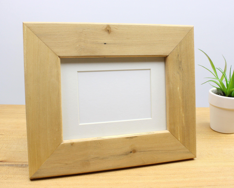 5x7 picture frame, spalted alder wood photo frame, 5x7 frame, wood ...