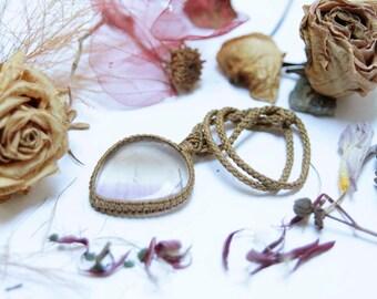 Beautiful macrame necklace