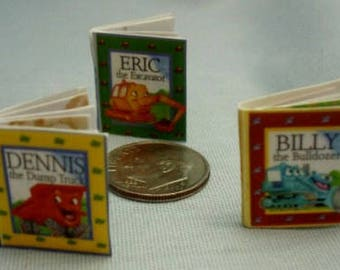 Set of Miniature Books of Trucks with Colorful Printed Pages