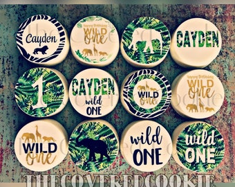Wild ONE Safari-Themed Chocolate Covered Cookies, Custom Treats for all Occasions