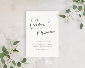 Wedding Invitation Sample - The Whitney Suite