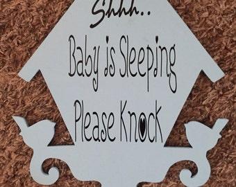 Shhh... baby is sleeping please knock