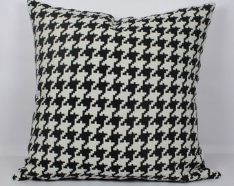 Houndstooth pillow cover 26x26 euro pillow cover 28x28 decorative black throw pillow cover 20x20 pillow cover 24x24 black white pillow case