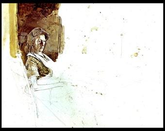 "Andrew Wyeth, Andrew Wyeth Print, American Art, American Artist, Americana, Wyeth Print, Wyeth Art, Pennsylvania Artist, ""The Apron 1967"""