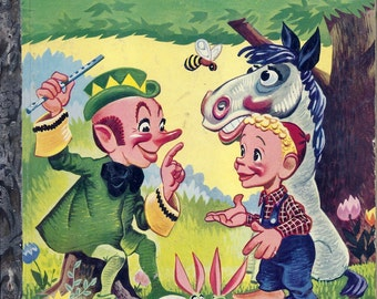 """Vintage 1950's Little Golden Book~whistling Wizard """"(A"""") 1st Ed."""