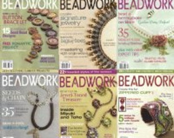 Beadwork Magazine whole set 2007