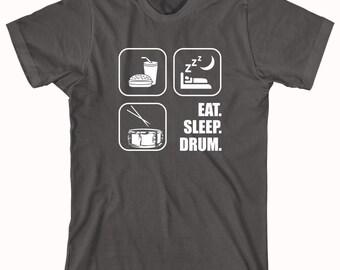 Eat Sleep Drum Shirt - drummer, drumming, gift for drummer, drumsticks, snare - ID: 291
