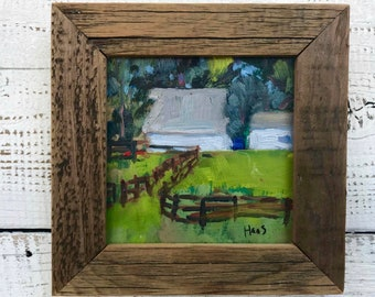 Plein Air, Landscape Oil Painting, Original Art, San Francisco Bay Area, Rush Ranch, Fairfield California, Gift for Her, Rustic Gifts, Him