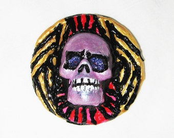 Day of the Dead pin back, Goth, Dark, Noir, Halloween. Cosplay