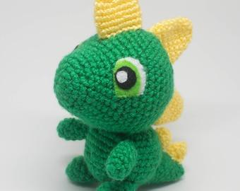 Dinosaur Stuffed Animal - Dinosaur Plush - Crochet Dinosaur - Custom Made Dinosaur - First Birthday - Toddler Gift