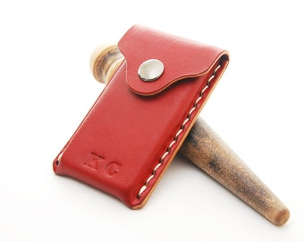 Handmade Moo MiniCards Leather Business Card Holder With Personalization