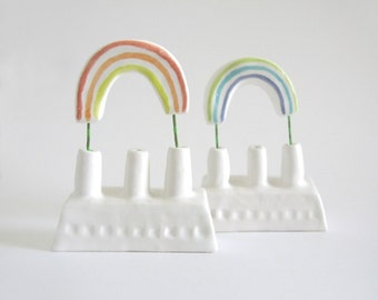 Double Rainbow - minature ceramic rainbow factory duo