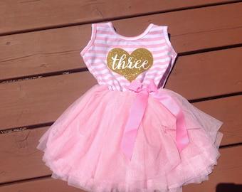 Third Birthday Dress - Heart