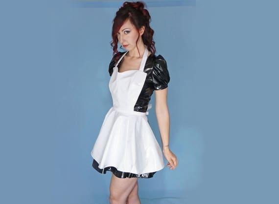 Fetish Fashion PVC Fetish Clothing Shiny Wet Look White PVC