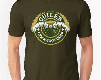 Guile's Gym & Boot Camp - Street Fighter workout gym T-shirt
