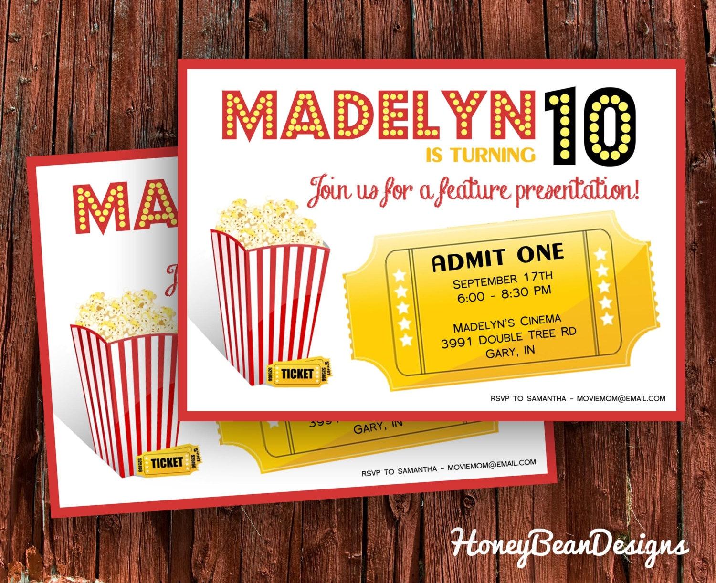 Ziemlich Film Einladungsvorlage Bilder - Beispielzusammenfassung ...