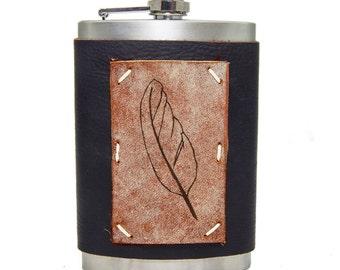 Feather Flask 8oz Homemade in Aspen in Midnight Espresso