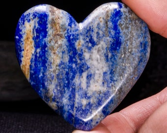 Best Hand Carved Lapis Lazuli Quartz Heart Shaped/Lapis Lazuli Quartz/Love Stone/Pink Heart/Quartz Heart/Jewelry/Special gift/Pendants#4407