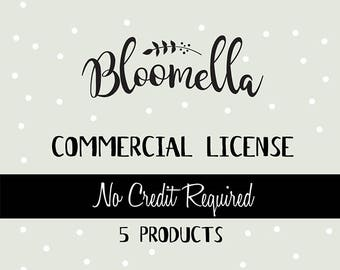 Commercial License - Bloomella Clipart - 5 Products Only