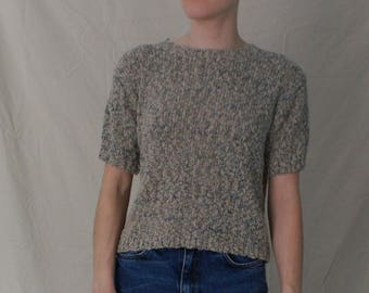 Short sleeve sweater top