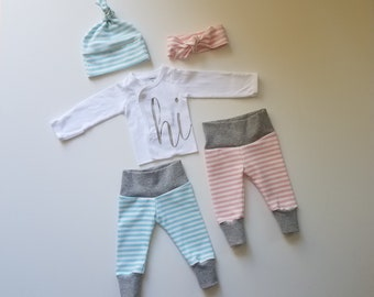 Gender Reveal Coming Home Outfit Set. Gender Suprise Coming Home Outfit. Baby Girl Boy Coming Home Outfit.Gender Reveal Outfit.