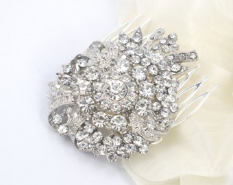 Bespoke Bouquet - Vintage Silver Rhinestone Hair Comb