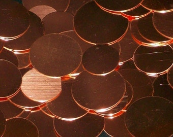 Copper Discs -  24 Gauge, Stamping blanks, metal stamping blanks, copper rounds, copper discs, copper disks, copper hand stamping blanks