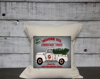 Moose Co Christmas Pillow Cover