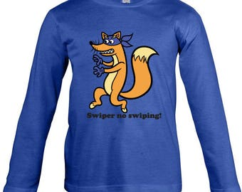 Swiper Long Sleeves T-shirt for children - available in many sizes and colours