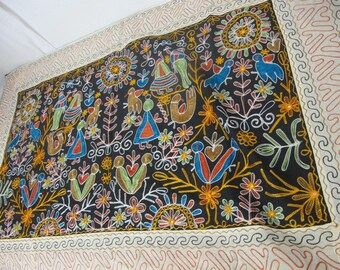Embroidered Table Runner Indian Table Runner Boho Table Runner Wall Hanging