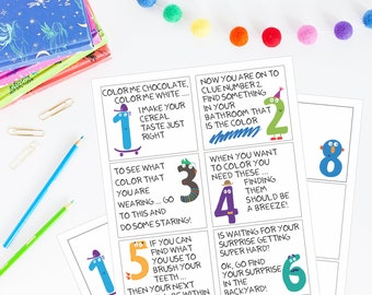 Printable Scavenger Hunt Cards - Kids Activity, Treasure Hunt, After-school Activity, Kid Game, Kids Printable