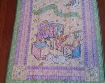 Quilts, Girls quilt, Boys quilt, Kids bedding, Handmade Quilts, Colorful Quilt, Baby Gift Idea, Welcome to the World Quilt
