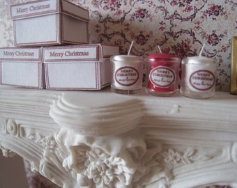 1:12 CHRISTMAS CANDLES & GIFT Boxes.