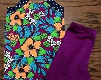 Girls size 10 Modest Swimsuit Set