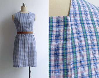 Vintage 70's Modern Traditional Sarong Cotton Shift Dress XS or S