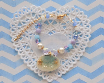 Beach Shell Beaded Bracelet