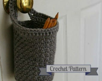 Crochet Pattern Hanging Doorknob Basket, Digital Download