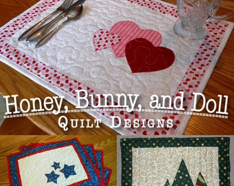 Seasonal Placemats: Set #1 PDF Pattern